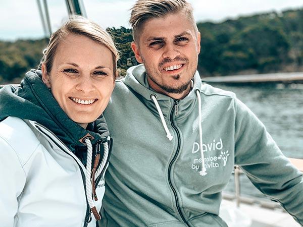 Ruth mit ihrem Bruder David
