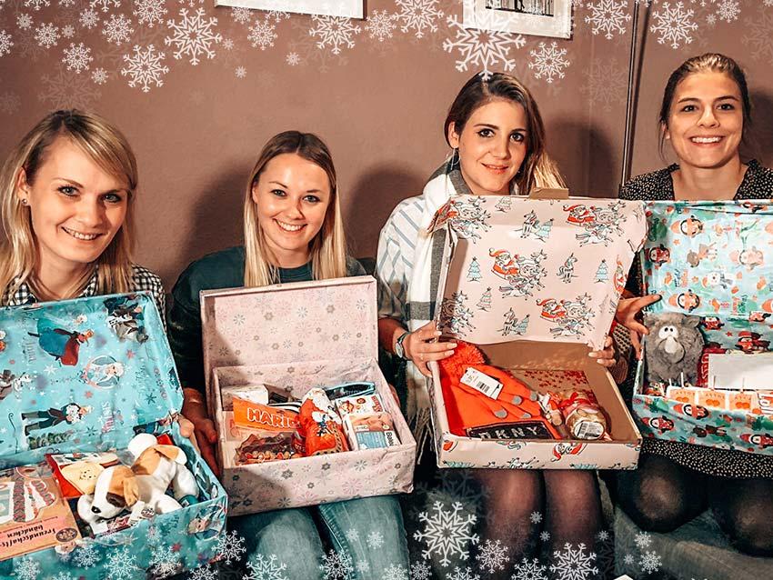 Teamevent Weihnachten im Schuhkarton