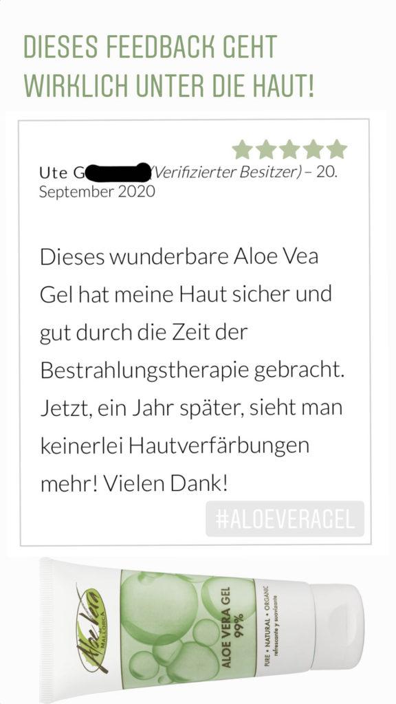 Aloe Vera Gel - Bestrahlungstherapie