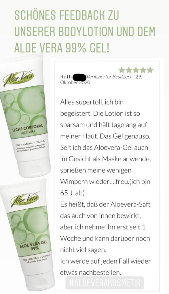 Bodylotion  - Aloe Vera Gel 99%